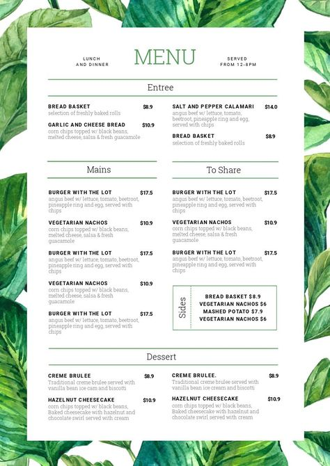 1 Menu Template, 10 Ways - Hack Your Visual Design Series Keep your menus fresh, up-to-date and looking delicious with Easil's menu template selection and menu maker. We show you how to take one menu template design and change it 10 unique ways.