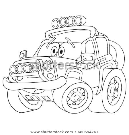 Coloring Page Of Car Cartoon Vehicle Transport Colouring Book