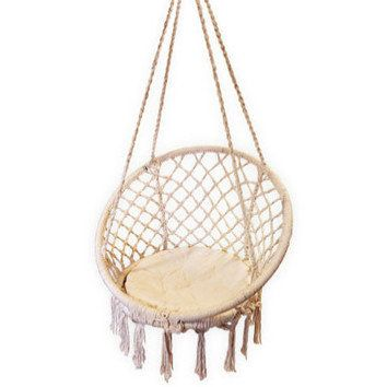 This Is The Most Gorgeous Chair To Hang On A Verandah Tropicana Imports Hanging Macrame Chair Buy I Hanging Chair Macrame Hanging Chair Hanging Hammock Chair
