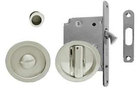 Inset Privacy Turn Release With Lock For 35 55 Mm Door Hardware Sliding Bathroom Doors Bathroom Door Locks Bathroom Doors