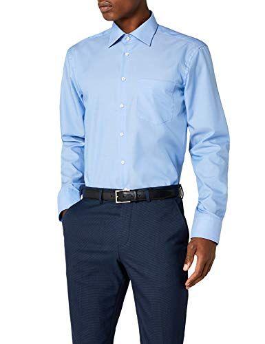 100/% Baumwolle B/ügelfreies Hemd mit geradem Schnitt Seidensticker Herren Business Hemd Modern Fit Langarm Kent-Kragen /& Brusttasche