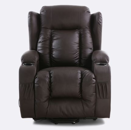 Chair Helps You Stand Up Antique Wooden Barber Rockingham Rise Recliner With Massage And Heat In Brown The Ultimate Choice Comfort Style Functionality Offers Reclining Rising Ability To Help