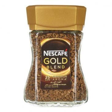 قهوه فوری نسکافه Gold گلد 50g Nescafe Gold Blend Food Mustard Bottle
