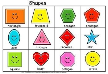 graphic about Printable Shapes Chart named Pleased styles chart Preschool Condition chart, Styles