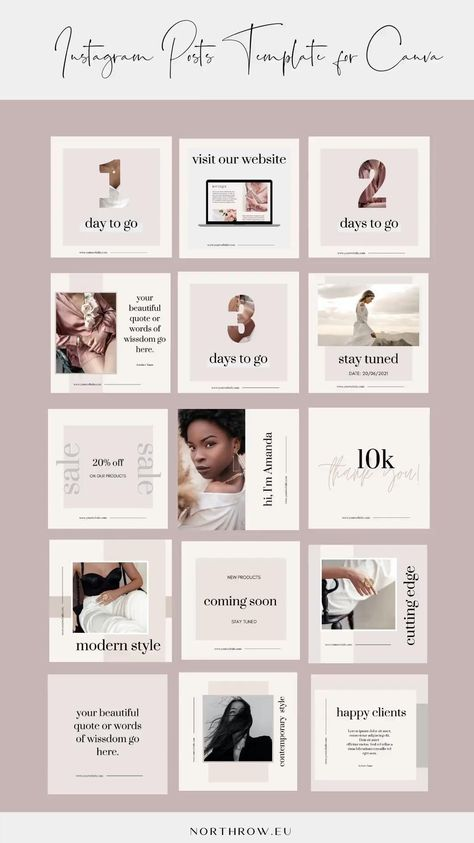 Ultimate Fashion Marketing Posts CANVA Templates for Luxury Brands, Bloggers, Influencers