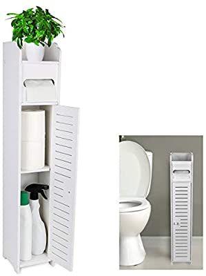 Gotega Small Bathroom Storage Toilet Paper Storage Corner Floor Cabinet With Door Small Bathroom Storage Bathroom Organisation Toilet Paper Storage
