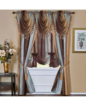 The Ombre Tie Up Shade Is A Victorian Inspired Window Shade With Many Options It S Lovely Semi Sheer Fabric Com Tie Up Shades Burgundy Curtains Window Shades