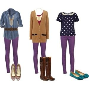 Image result for purple shirt matches what color pants