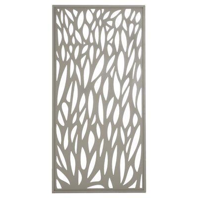 Panneau Feuille Aluminium Neva Taupe Idee Sichtschutz Sicht