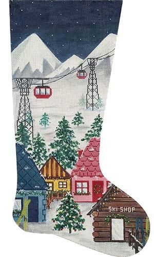 Large Nutcracker Soldier Deluxe Size Alice Peterson Home Creations Holiday Edition Needlepoint Stocking Kit-