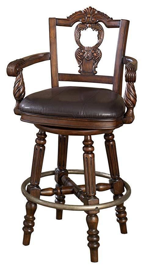 Astounding Ashley Furniture North Shore Dark Brown Tall Upholstered Ibusinesslaw Wood Chair Design Ideas Ibusinesslaworg