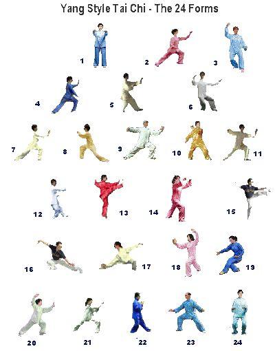 Très 24 form tai chi poster | Tai Chi & Qi Gong | Pinterest | Tai chi  KT08