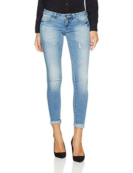 c0d355cdd7ca ONLY Damen Jeanshose Onlcoral Sl Sk Dnm Jeans Bj8191-1 Noos, Blau ...