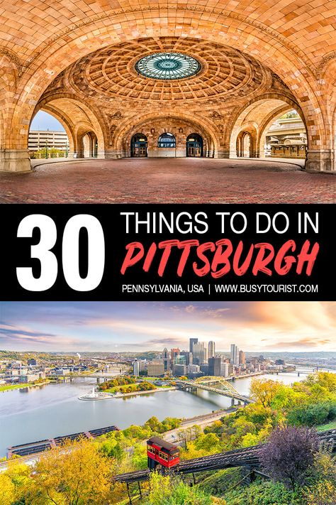 Wondering what to do in Pittsburgh PA? This travel guide will show you the top attractions best activities places to visit & fun things to do in Pittsburgh Pennsylvania. Start planning your itinerary & bucket list now! Pittsburgh Attractions, Visit Pittsburgh, Pennsylvania Pittsburgh, Us Travel Destinations, Places To Travel, Europe Places, Travel Advice, Travel Guide, Travel Checklist