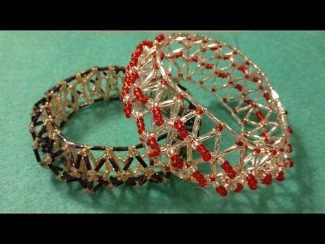 ▶ Tutorial, 3D light, bugle netted bangle, bracelet. - YouTube