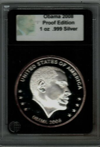 Bullion 2008 Obama 999 Silver Encased Coin This Is A Must See Last One Available Bullion Silver Eagle Coins Eagle Coin