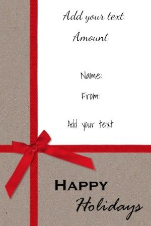 Free printable gift certificate on textured paper with a red - free christmas voucher template