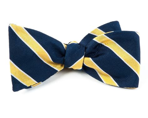 The Tie Bar 100/% Woven Silk Bahama Checks Classic Blue Self-Tie Bow Tie
