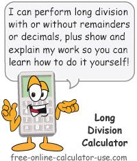 Long Division Calculator With Or Without Remainders Or Decimals Mortgage Payment Calculator Budget Calculator Debt Calculator