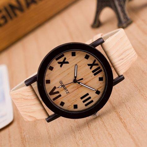 c08b718895f -Relógio super bonito e estiloso se enquadrando perfeitamente na moda de  relógios de madeira der 2018. -Relógio GRATUITO por tempo limitado