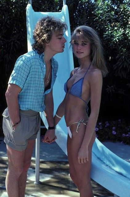 Guess who the girl on the right is with Leif Garrett? Yep, it is a 17 year old Nicolette Sheridan.