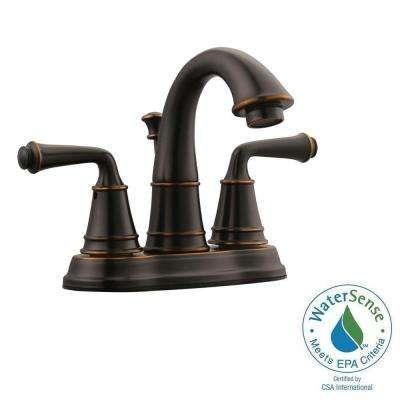 Eden 4 In Centerset 2 Handle Bathroom Faucet In Oil Rubbed Bronze