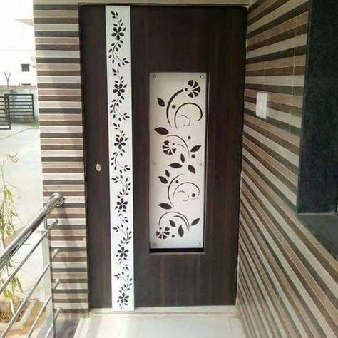 Door With Wooden Jali Door Glass Design Main Door Design Door Design Modern