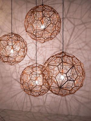 Tom Dixon Etch Web Pendant Light Shadow Lamp Living Room Chandelier Replica Ebay In 2020 Modern Pendant Light Copper Chandelier Pendant Light