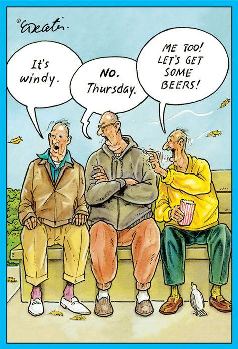 Birthday Card Eric Decetis Windy Thursday Beer 30044