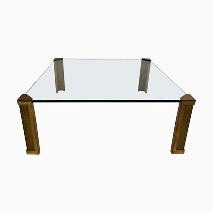 Brass Glass T14 Coffee Table By Peter Ghyczy 1970s Glass Table Brass