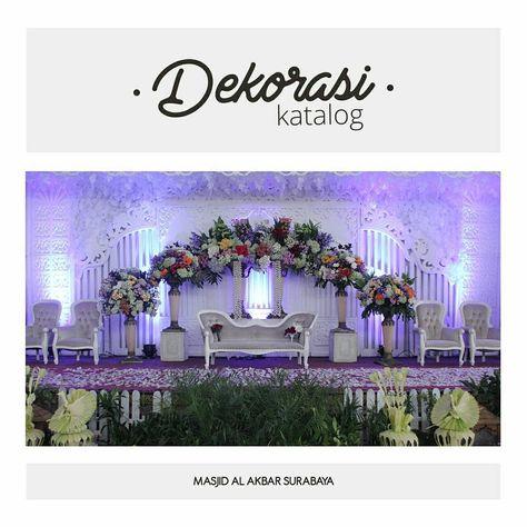 dekorasi cantik dari pernikahan di majis agung surabaya
