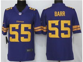 huge selection of 3d97f b338a Minnesota Vikings #55 Anthony Barr Purple Color Rush Jersey ...