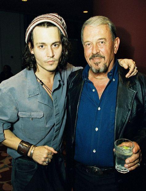 Johnny Depp with his dad John Depp.