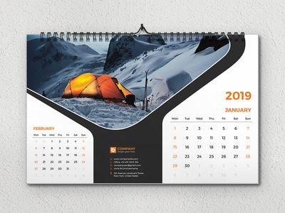 Desk Calendar 2019 Desk Calendar Design Calendar Design Calendar Design Layout