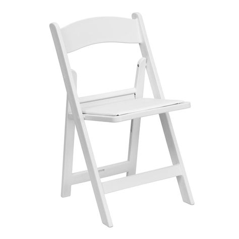 Flash Furniture Hercules Series 1000 Lb Capacity White Resin Folding Chair With White Vinyl Padded Seat Folding Chair Plastic Folding Chairs Folding Garden Chairs