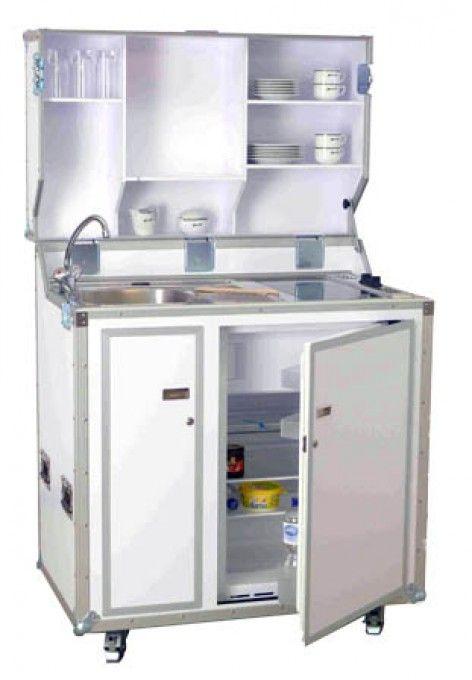 Pro Art kitcase Kofferküche mit Kühlschrank - Weiß | Mobile Küchen ... | {Miniküchen 14}