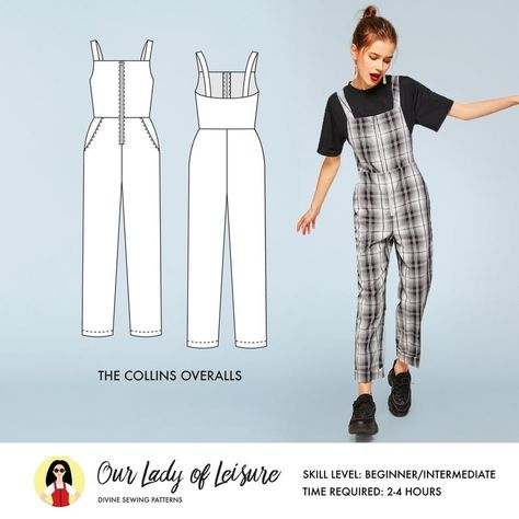 Collins Overalls Sewing Pattern / Coveralls Sewing Pattern / Utility Jumper Sewing Pattern / Women& Coveralls Sewing Pattern, Maybe you are a beginner sewist trying to find some easy stitching projects, or maybe you are only , Dress Sewing Patterns, Sewing Patterns Free, Free Sewing, Clothing Patterns, Paper Patterns, Pattern Sewing, Pattern Drafting, Skirt Sewing, Vogue Patterns
