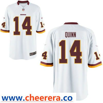buy online c6622 54a25 Men's Washington Redskins #14 Trey Quinn White Road Stitched ...