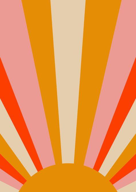 Sun Art Print Vintage Sun Print Solar Star Print | Etsy
