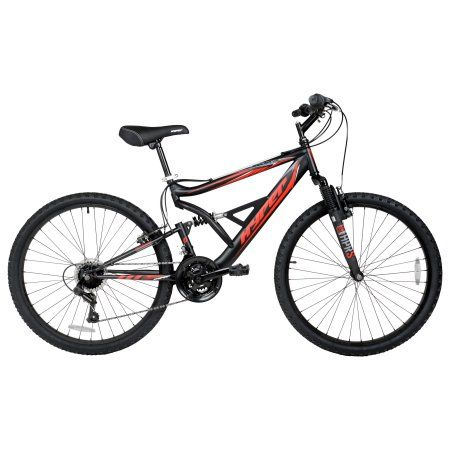 "Mens Mountain Bike 26/"" Dual Suspension Black"