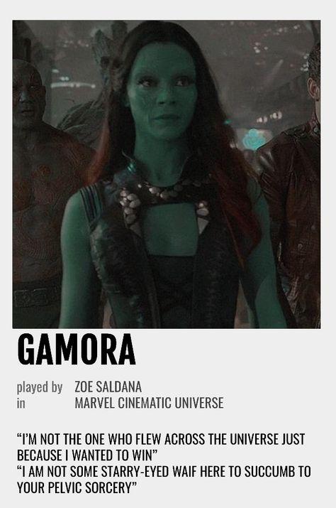 Gamora Polaroid Poster