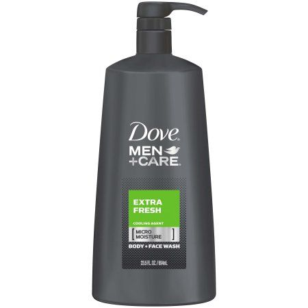 Dove Men Care Body And Face Wash Pump Extra Fresh 23 5 Oz Walmart Com In 2020 Dove Men Care Men Care Dove Men