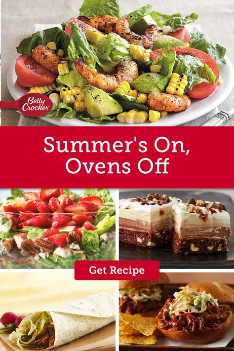 No oven recipes are perfect for easy summer dinners from crockpot suppers to salads and desserts. Pin now in preparation for summer!