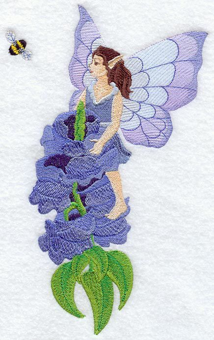 Fairy Ballerina Dancer Machine Filled Embroidery