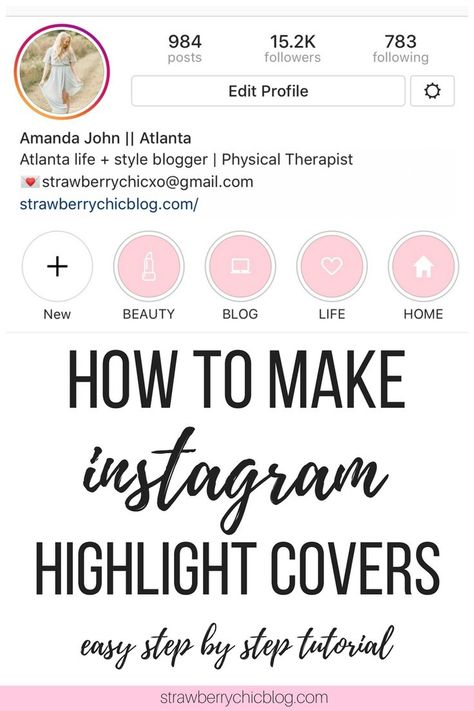 How to make your own Instagram Highlight Covers - Step by step tutorial