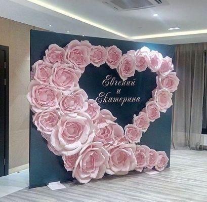 60+ Como usar flores de papel gigantes em seu casamento 50