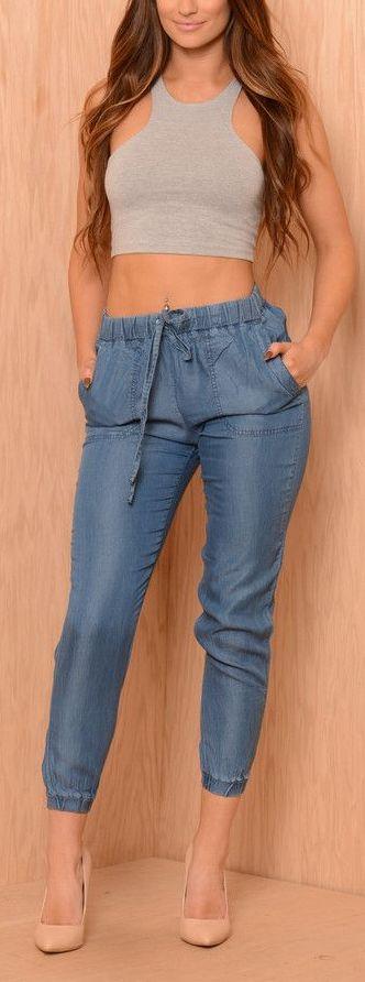 19 Ideas De Jeans Jogger Ropa Moda Moda Femenina