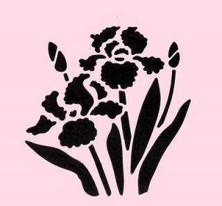 Iris Flower Stencils Printable Flower Stencils Printables Flower Stencil Flower Printable