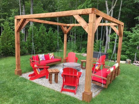 Image Result For Pentagon Swing Firepit Backyard Fireplace Fire