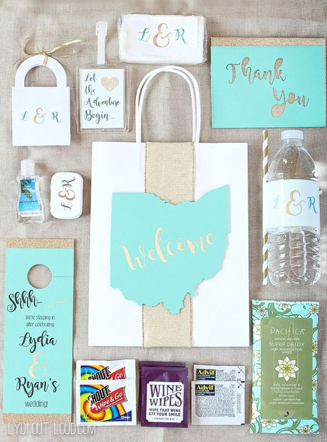 These Personalized Wedding Guest Gift Bags Are Full Of Hotel